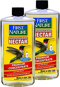 First Nature 3052 Clear Hummingbird Nectar, 16-Ounce Concentrate - 2 Pack