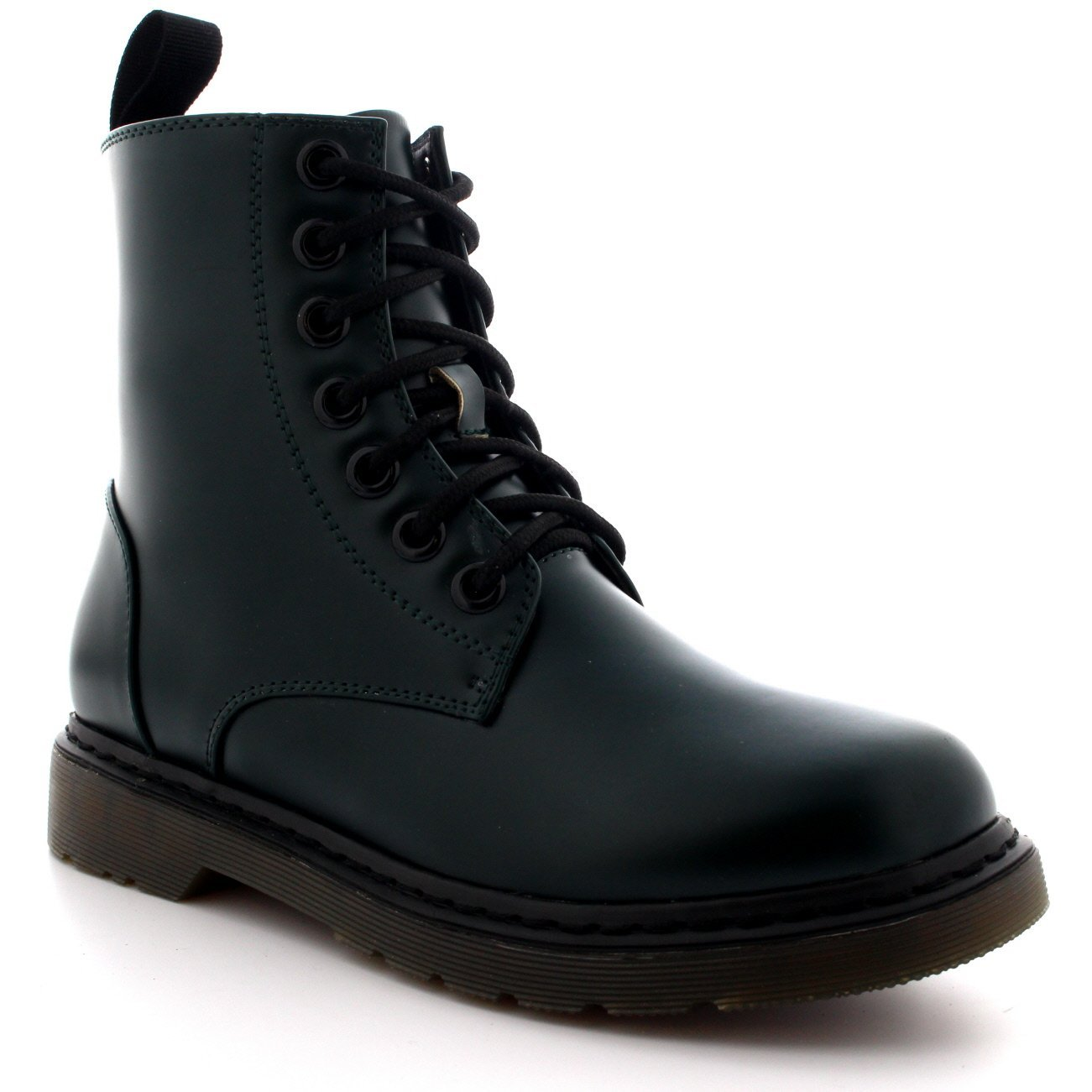 50eb6472386 Amazon.com: Mens Lace up Goth Punk Vintage Chunky Military Retro ...