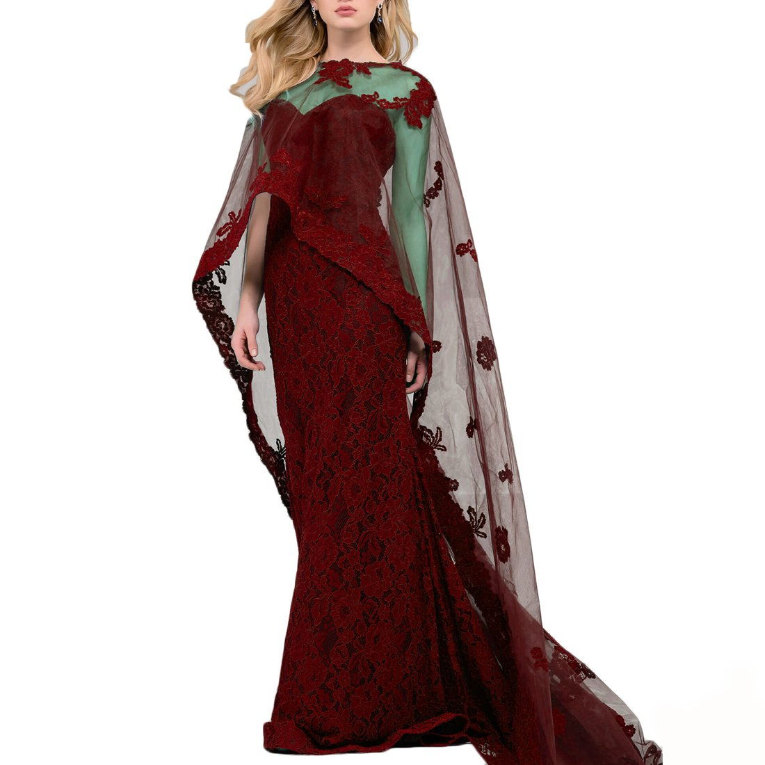 Lace Full Length Cape For Women