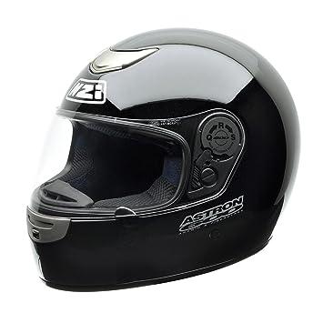 NZI Astron 600 Casco de Moto, Negro, 57 (M)
