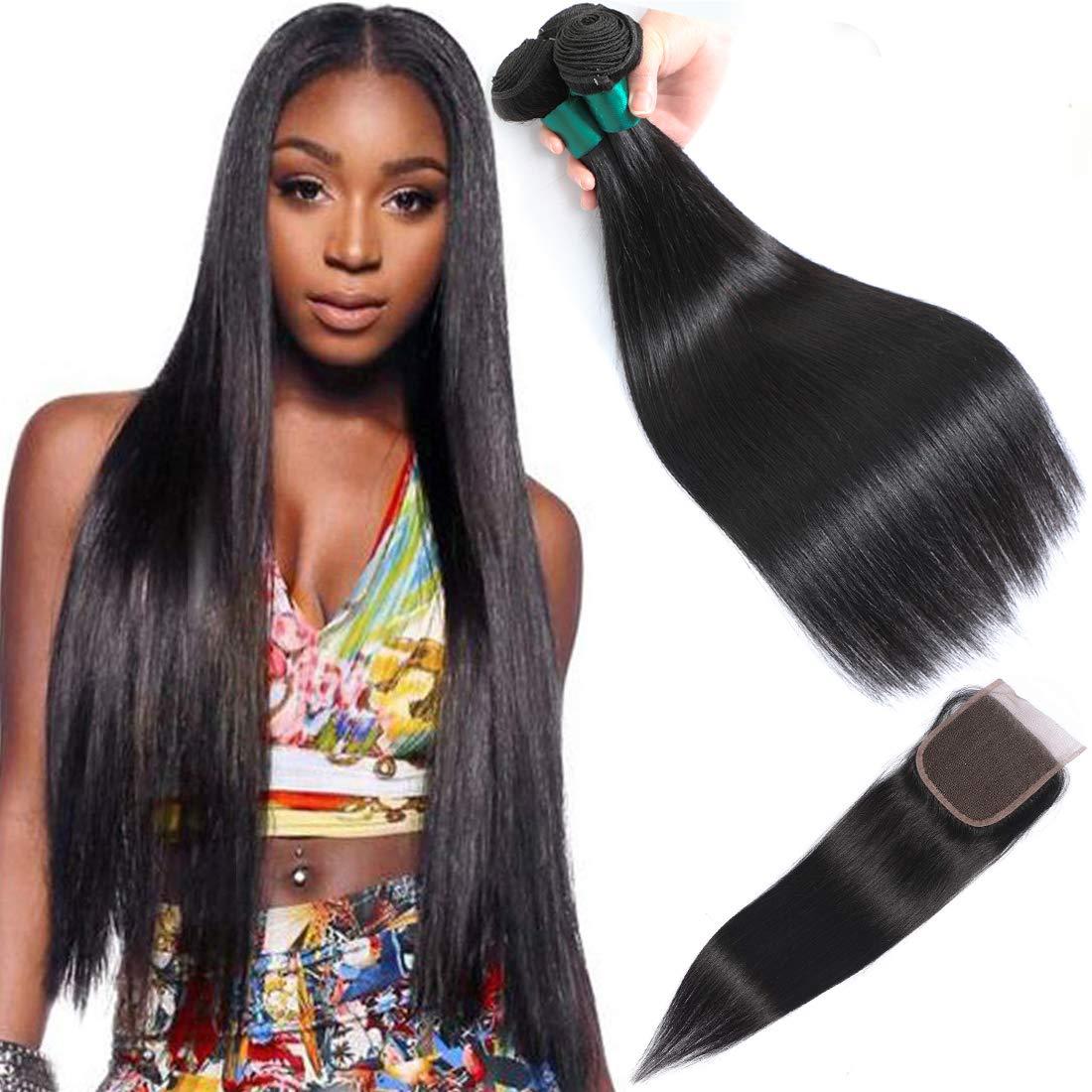 AUTTO Hair Unprocessed Peruvian Luxury Import Straight 3 Human wi Bundles
