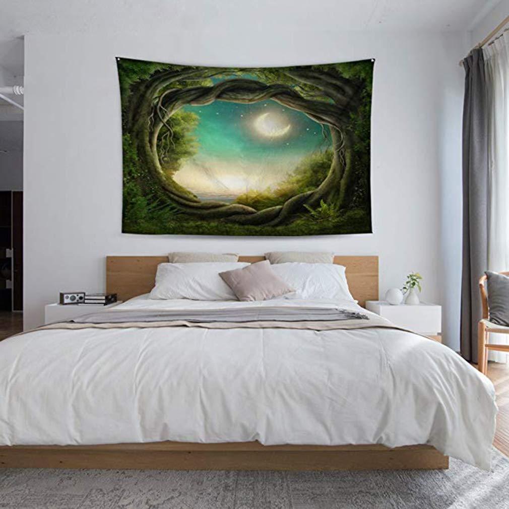 lefu Tapisserie Conte de f/ées for/êt Nature Art Beau Tenture Murale nappes pour Maison dortoir d/écor
