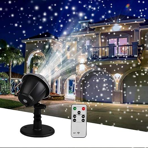 WANGIRL Luz de Proyector de Nieve Que Cae, Lámpara de Proyector ...