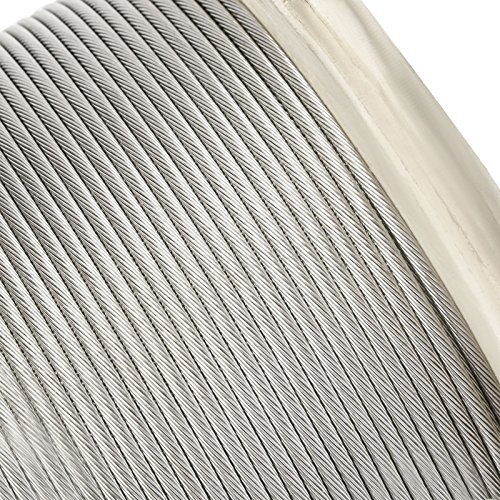 """LOVSHARE 1/8"""" 1000FT Wire Rope T316 Stainless Steel Cable Railing 1x19 Strand Core Cable Reel by LOVSHARE (Image #6)"""