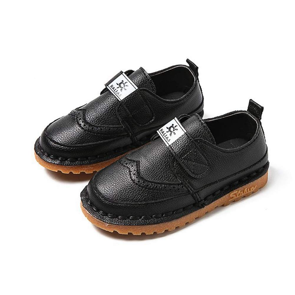 F-OXMY Toddler Little Kids Wing-Tip Brogue Oxfords Dress Shoes Boys Comfy Slip On Walking Casual Shoes