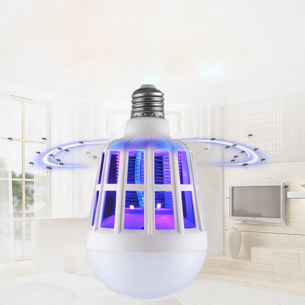 LEDMOMO Insectes Bug Zapper Ampoule Repoussatrice /à moustique Lumi/ère LED pour chambre /à coucher Chambre Salon Cour arri/ère Patio