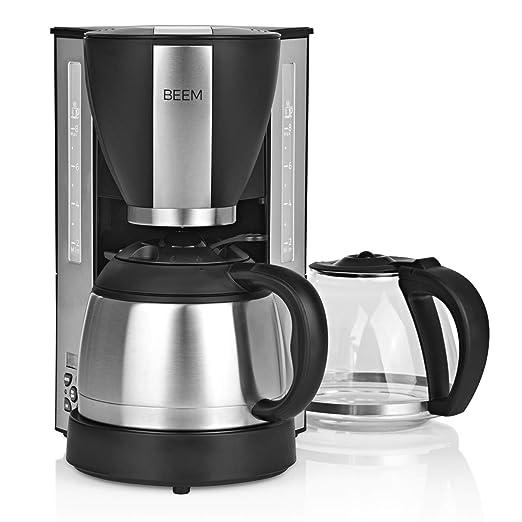 Beem - Cafetera de filtro (2 unidades, 1000 W, jarra de cristal y ...