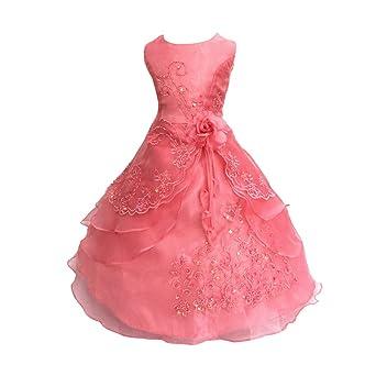 LSERVER-Vestido de Flores Para Las Niñas y Princesas en Verano Para Fiestas: Amazon.es: Ropa y accesorios