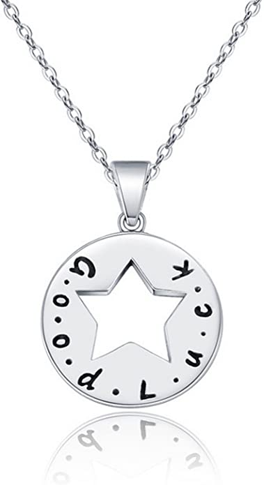 MMC Simple Good Luck Silver Pendants Necklaces
