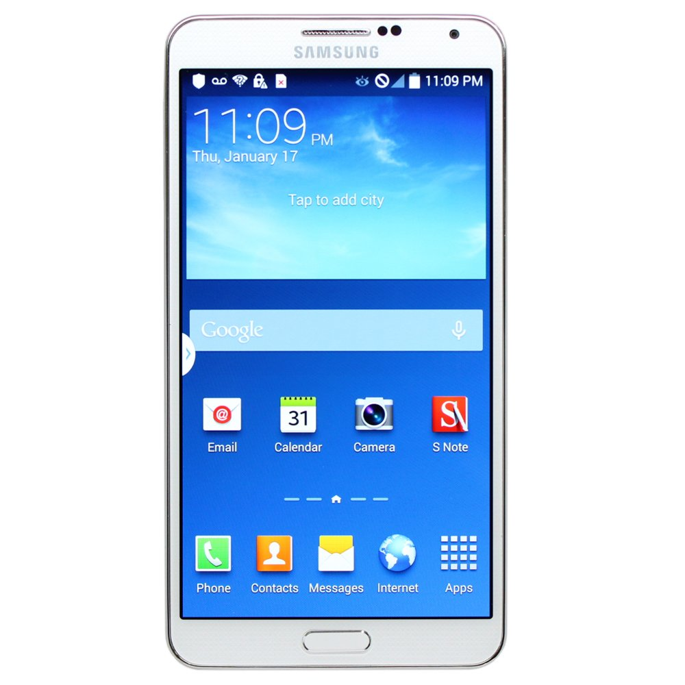 Samsung Galaxy Note 3 SM-N900T White Smartphone for T-Mobile (Certified Refurbished)