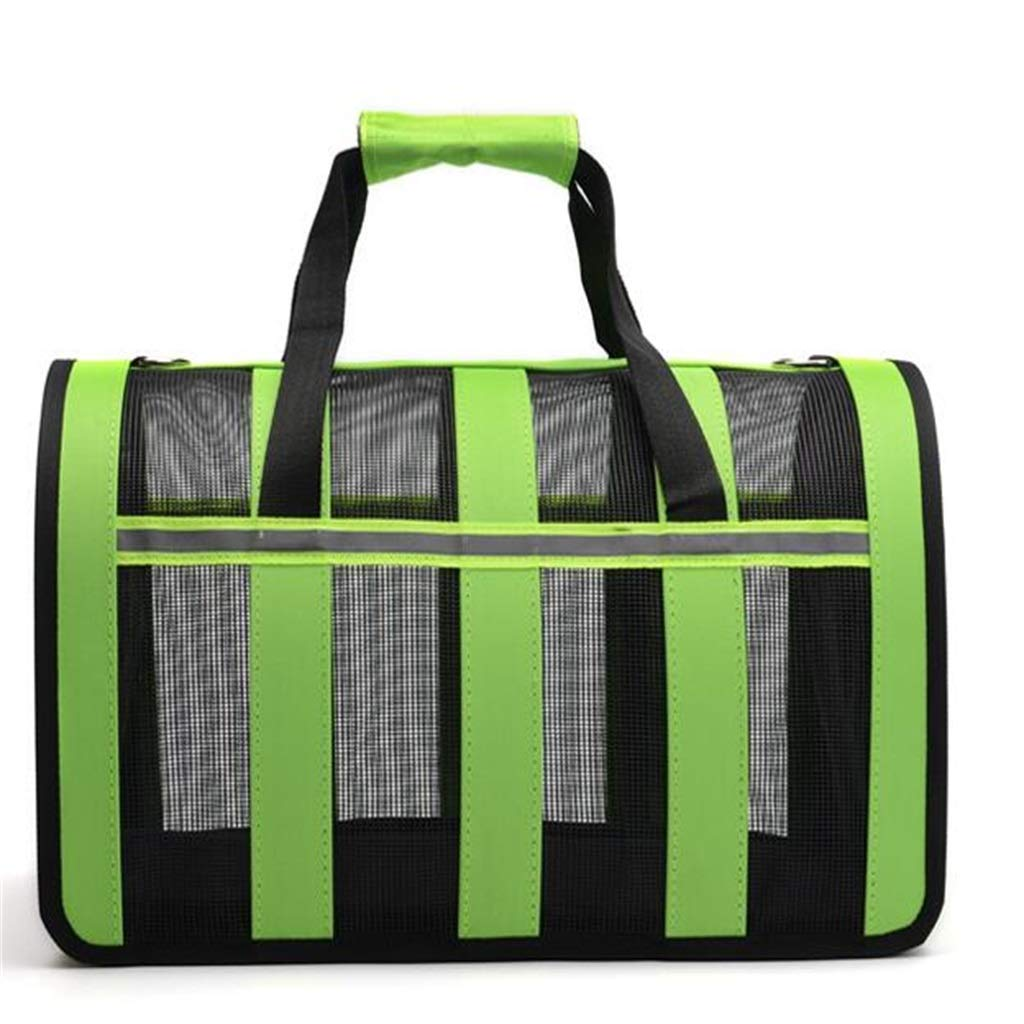 342023 Striped Pet Bag Breathable Portable Folding Outdoor Traveling Cat Dog Special Bag