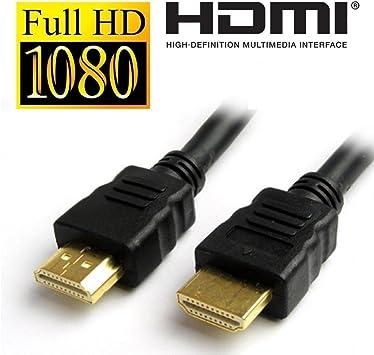 technotech tecnologías Cable HDMI Macho a Macho 1.4 V Chapado en Oro HD 1080p para LCD TV, PC y portátil (Negro) 45 ft: Amazon.es: Electrónica