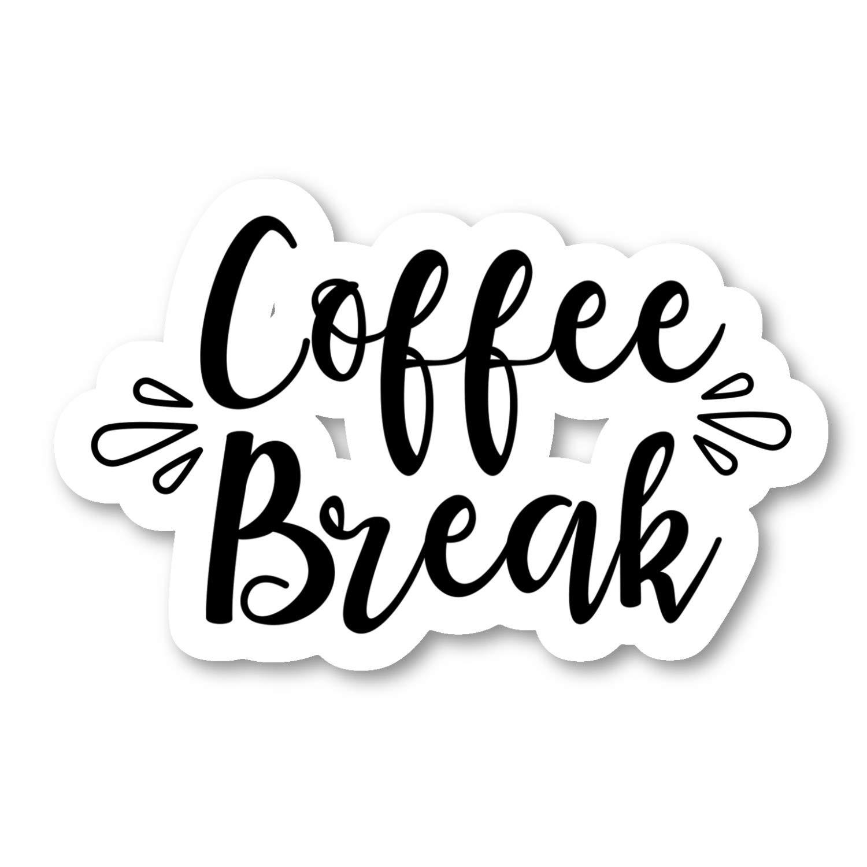 Amazon.com: Coffee Break Sticker Funny Quotes Stickers - 2 ...