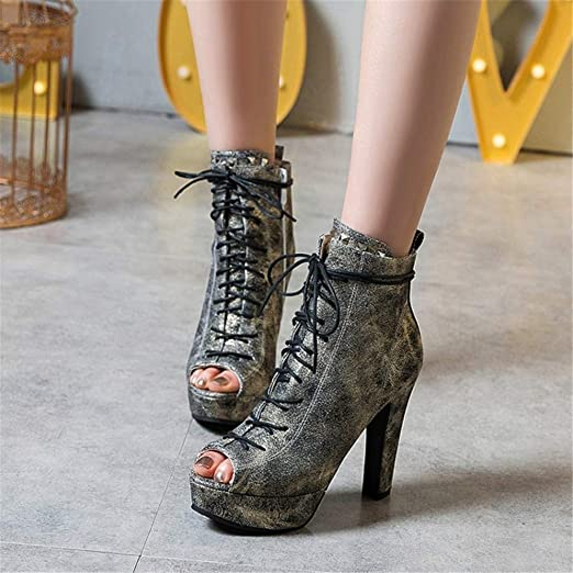 6923d298114d7 Amazon.com: YXB Ladies Sandals 2019 Boots Pu Ankle Shoes Laced ...