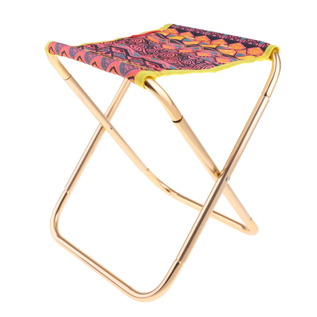 MagiDeal Outdoor Camping Folding Stool Chair Seat Fishing - Flower