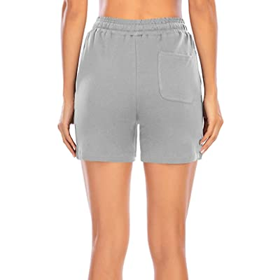 MIDOSOO Womens Cozy Banded Waist Running Fitness Workout Shorts with Pockets