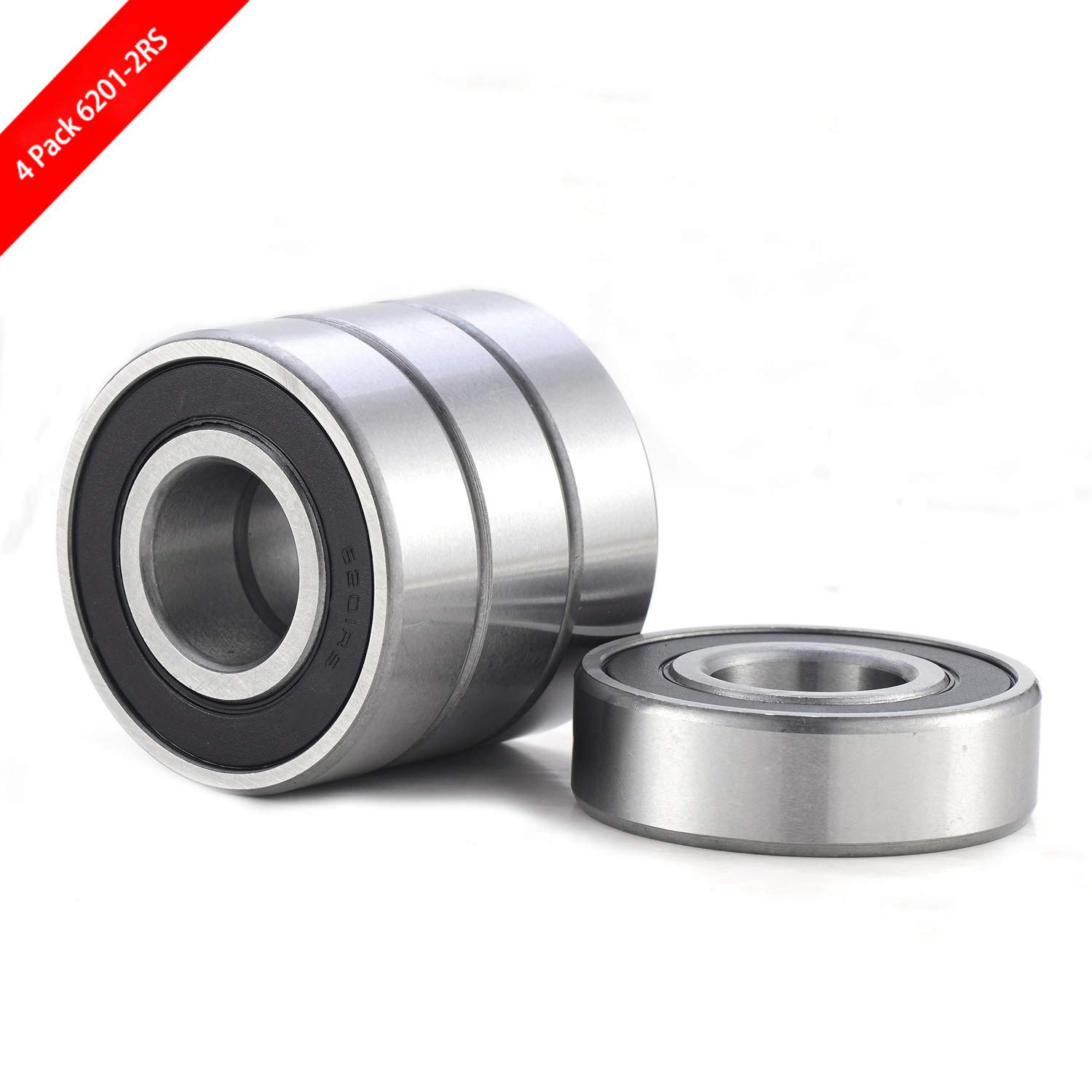 Pre-Lubricated and Stable Performance and Cost Effective Deep Groove Ball Bearings. TIMKEN 6200-2RS 5 Pcs Double Rubber Seal Bearings 10x30x9mm