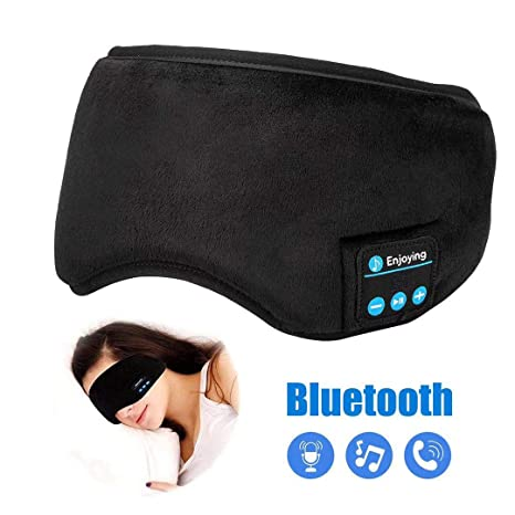 441db740c83 Bluetooth Sleeping Headphones,Perytong Skin-Friendly Wireless Music Bluetooth  Sleep Eye Mask,Upgraded