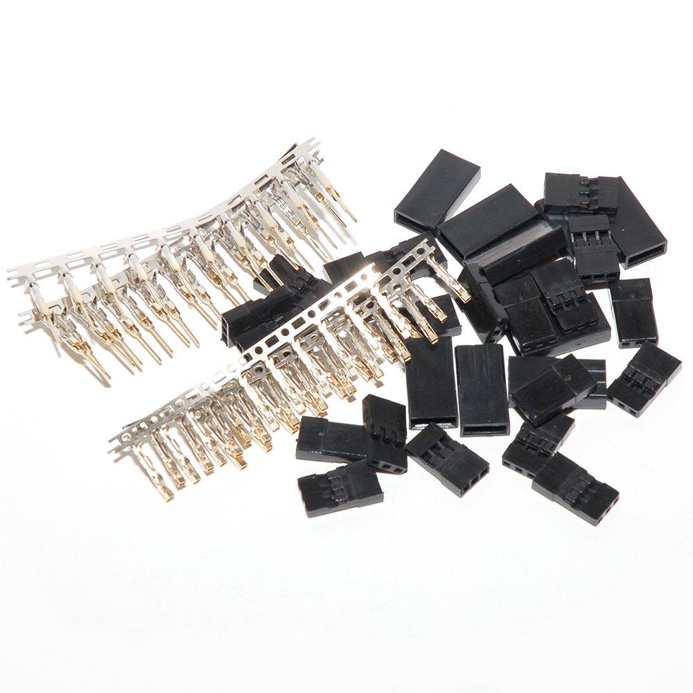 10 Pair JR Hitec Type RC servo Receiver Connector Plug kit Male /& Female