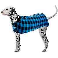 Pet Basic Dog Jacket Chequered Red 3 Sizes Adjustable Machine Washable Warm