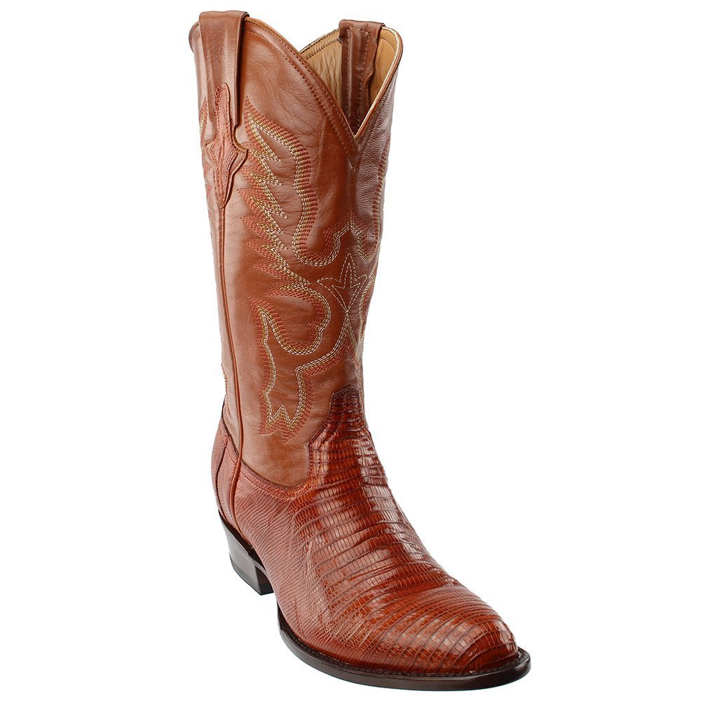 Ferrini Men's Genuine Lizard R-Toe Western Boot B07D841GTN 11EE|Brown