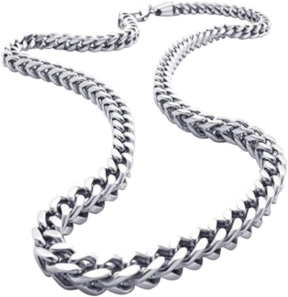 OIDEA Collar Hombre Acero Inoxidable Vintage 66 cm Joyería de Moda Regalo Aniversario Cumpleaños