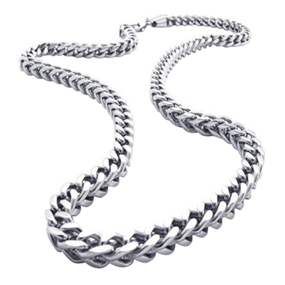 Bikers High Polished Punk Rock Stainless Steel Curb Chain Necklace for Men,21.6 Inch Oidea O0070053-CA