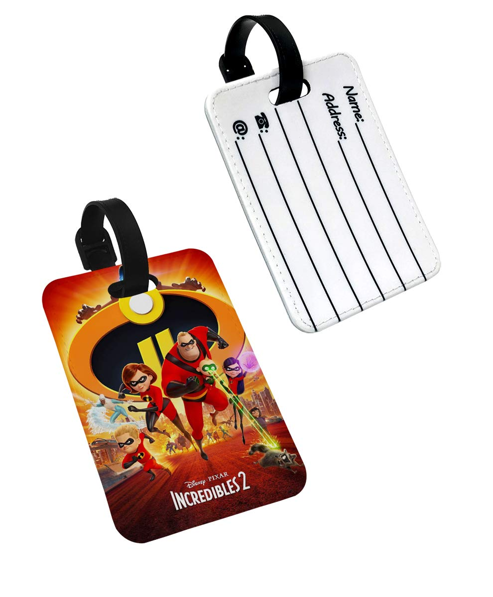 The Incredibles 2 Disney Travel Bag Luggage Tags