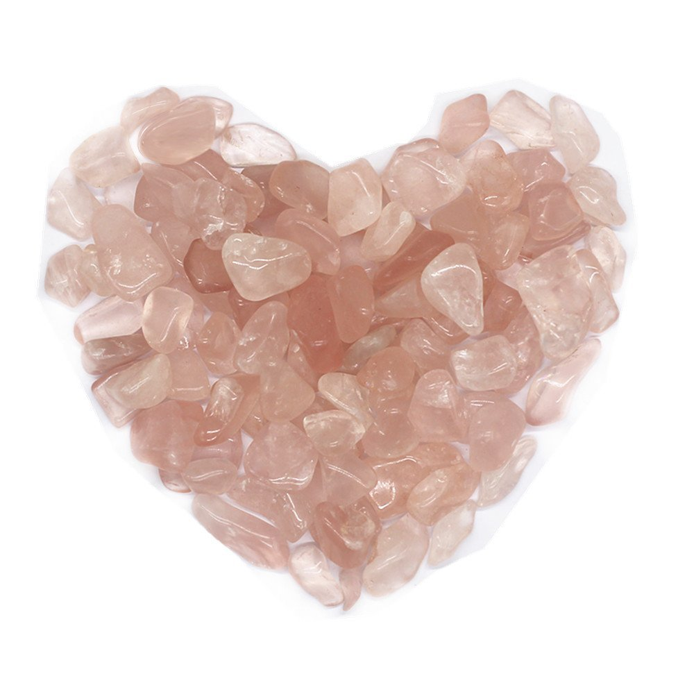 TANG SONG Crystal Crushed Stone Aquarium Decoration Filled Crystal Gravel Bulk Rose Quartz Rough Crushed Stone Healing Reiki Crystal Jewelry Making Home Decoration(Approx.310g)