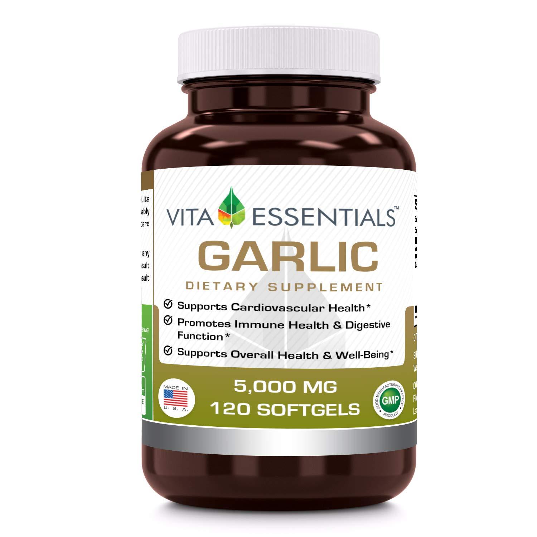 Vita Essentials Softgels, Garlic, 5000 Mg, 120 Count