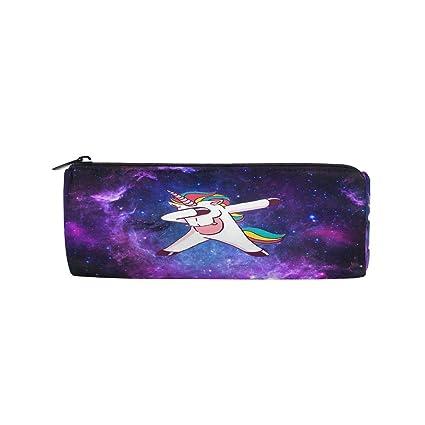 23ca56cfa969 Amazon.com : Unicorn Galaxy Star Pencil Pen Bag Case, Purple Space ...