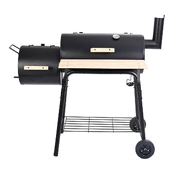 Barbacoa carbón vegetal Barbacoa Barbacoa Party Grill STAND mesa – Parrilla para mesa madera Barbacoa Carbón