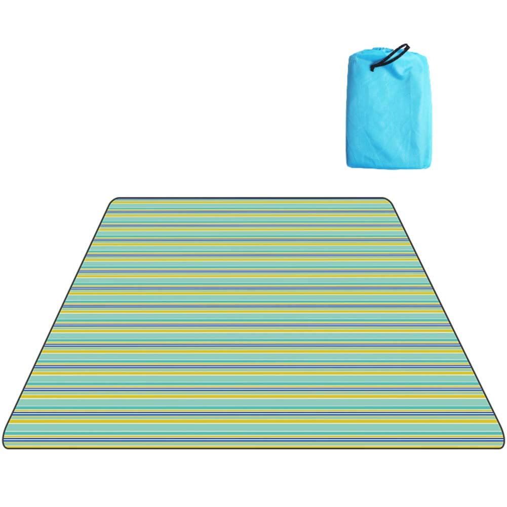 DADAO Picnic Blanket Waterproof Tote,for Water-Resistant Handy Mat Tote Spring Summer Great for The Beach,Camping On Grass Sandproof,5,200x200cm