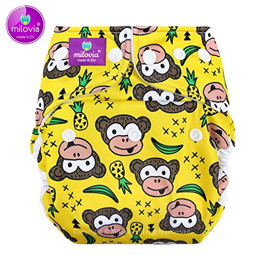 Milovia Überhose (Prefold) - Newborn/One Size - Funky Monkey Milovia Prefold One Size (4-16 kg)