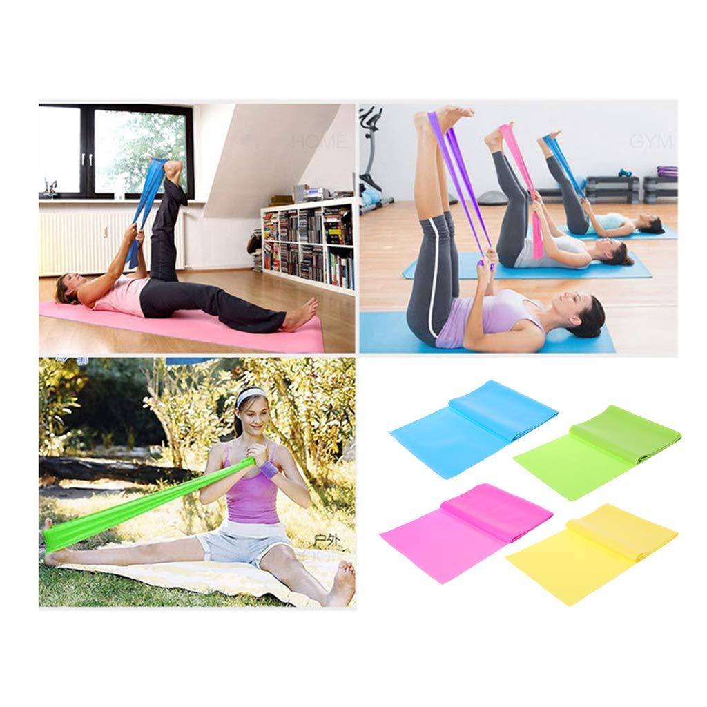 Lergo/_FR 1.8m Pilates en Caoutchouc Bande /élastique Fitness Yoga Latex Bandes Stretch Gym Exercice
