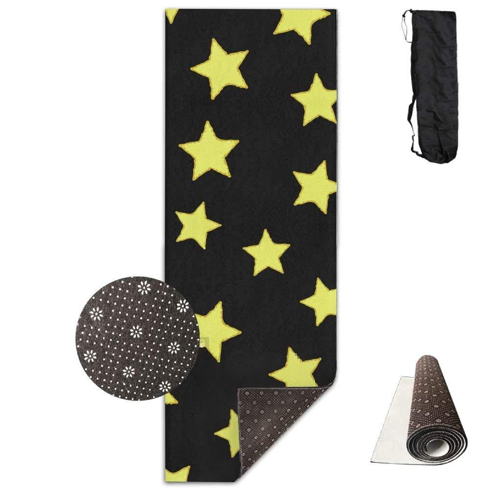 Star Black Night Deluxe,Yoga Mat Aerobic Exercise Pilates Anti-Slip Gymnastics Mats