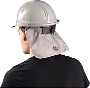 Hard Hat Cooling Pad w/ Neck Shade, Grey, One Size, Flame Retardant, #969