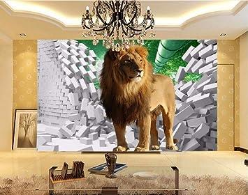 Dxbh Fondo De Pantalla Grande León 3D Estéreo Tv Fondo Salón ...
