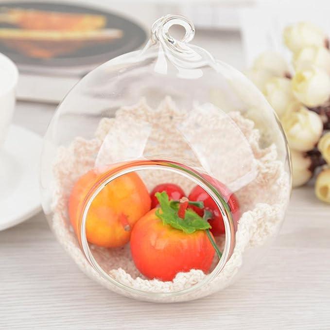 ningsun Cristal Portavelas colgante casa boda fiesta adornos para la cena Cristal Vaso candelabro para la cena de familia, boda, fiesta: Amazon.es: ...