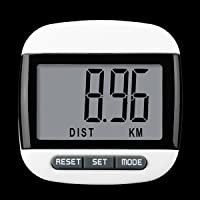 Digital Pedometer Step Pedometer Sport Walking Calorie Distance Counter with Extra Large Waterproof LCD Display