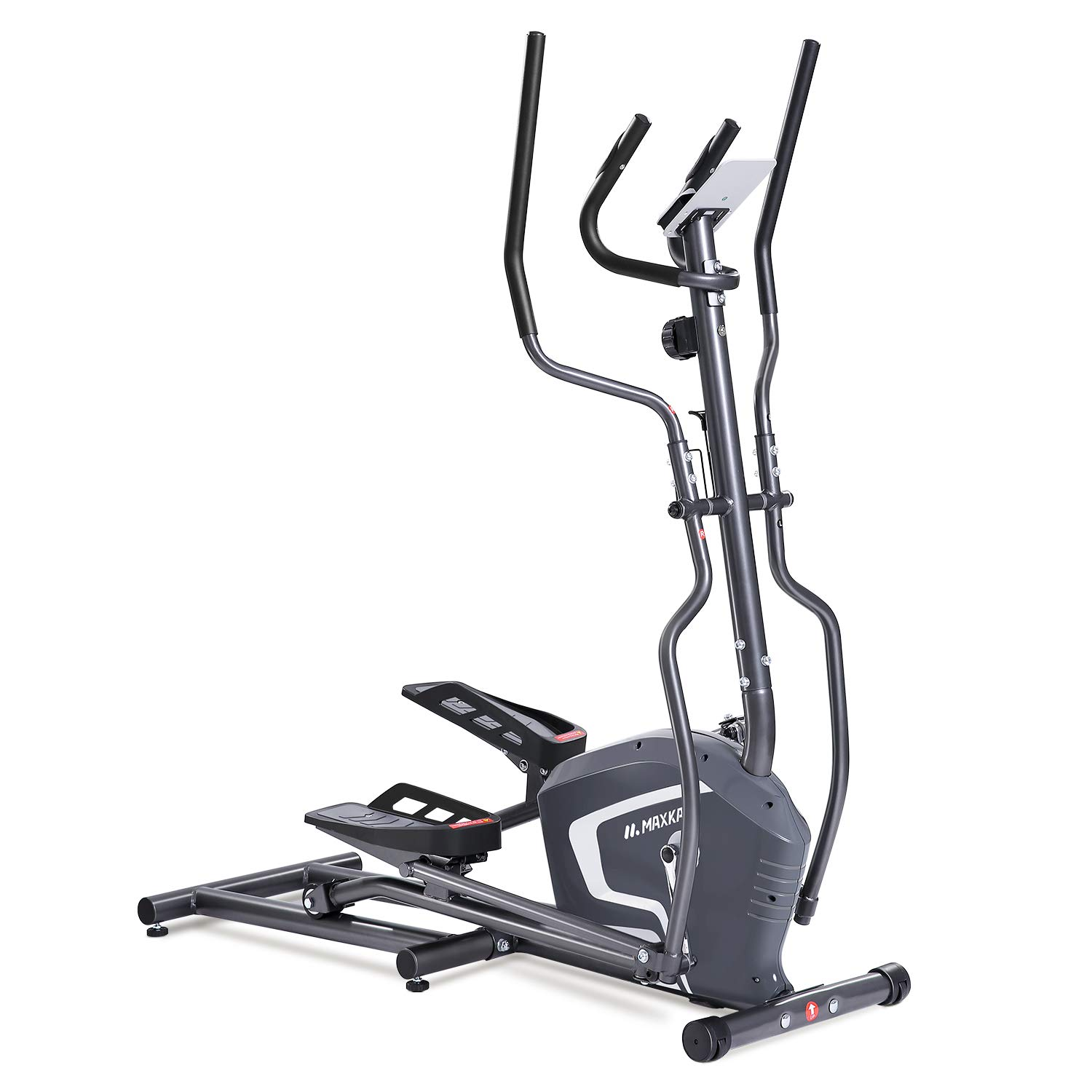 MaxKare Magnetic Elliptical Machine Trainer Smooth Quiet Driven with Front Flywheel/LCD Monitor/Dual Handles for Home Use by MaxKare