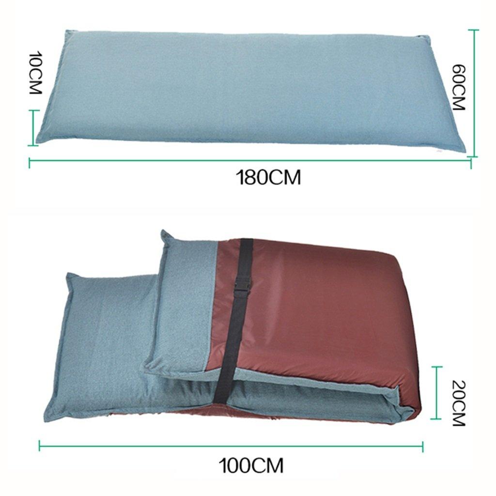 Color : Blue hj Pieghevole Sedia a Sdraio Relax Pigro Divano Letto Sedile con pi/ù Regolabile Lounge Lounge Chaise Longue Futon Materasso Sedile Cuscino della Sedia