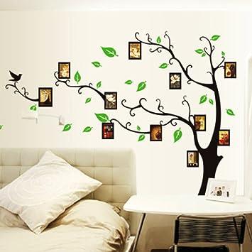 yesurprise vinilo decorativo adhesivo pegatina pared para restaurante hogar sala dormitorio rbol marcos de fotos