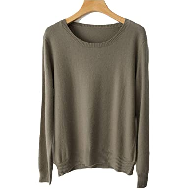 New Years Eve Gifts Spring Winter O Neck Cashmere Wool Sweater Women