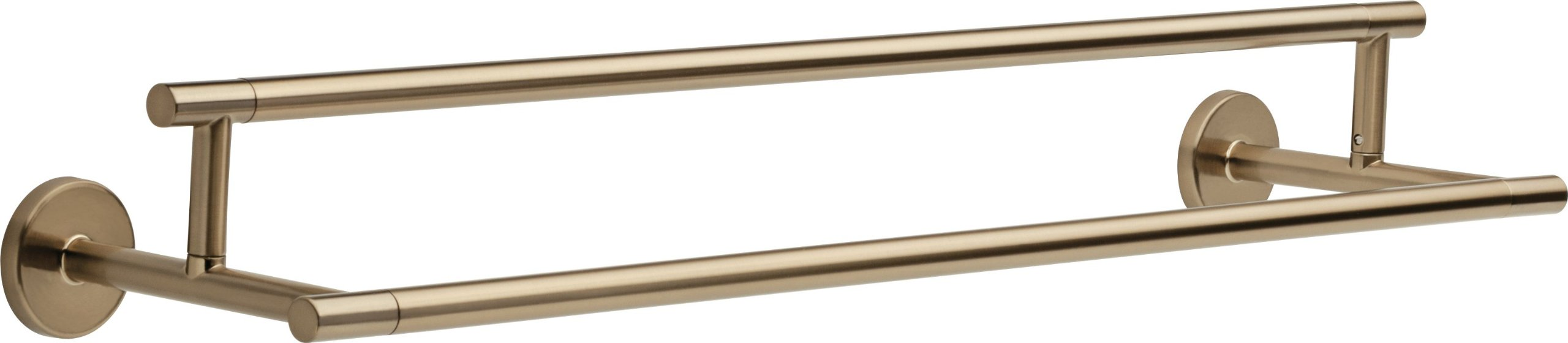 Delta Faucet 75925-CZ Trinsic 24inch Double Towel Bar Rack, Champagne Bronze