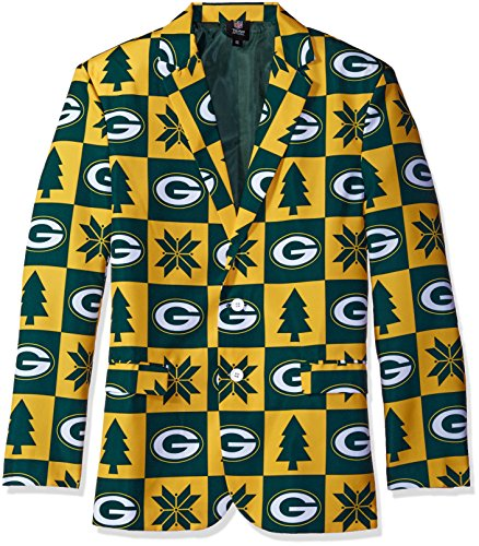 Green Bay Packers Patches Ugly Business Jacket - Mens Size 48