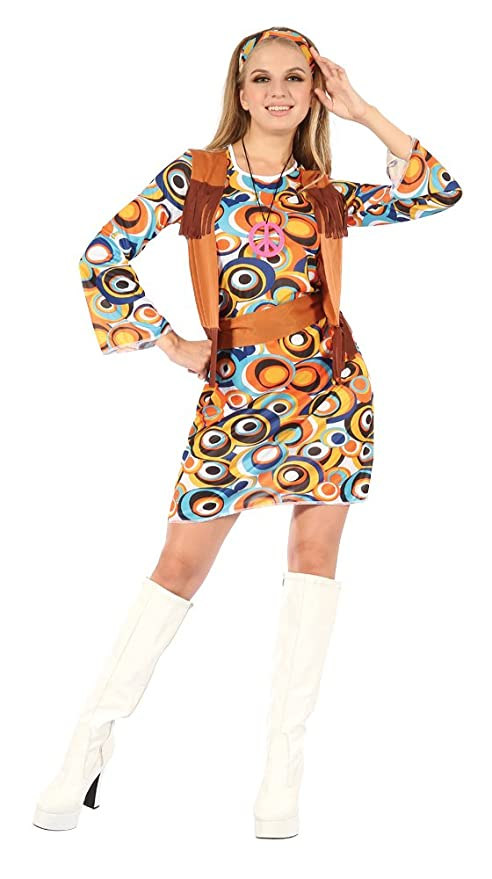 Hippie Dress | Long, Boho, Vintage, 70s Ladies Hippy Costumes £10.99 AT vintagedancer.com