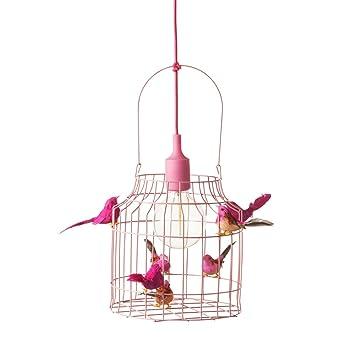 Hangelampe Kinderzimmer Madchen Rosa Deckenleuchte Pendelleuchte Rosafarbig Led Kinder Deckenlampe Mit Vogelchen Nie Alleine Schlafen