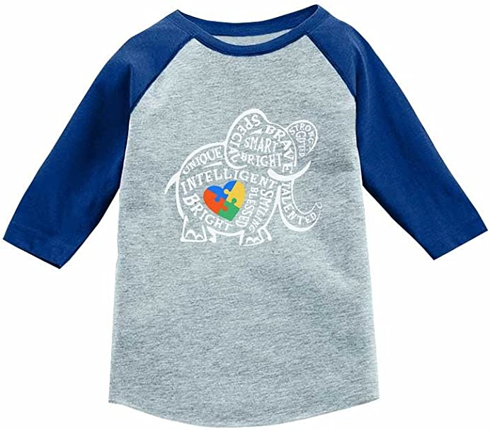 Autism Shirts for Kids Girls Boys Autism 3//4 Sleeve Jersey Shirt Autism Kid Gift