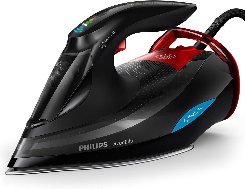 Philips GC5037/80Azur Elite plancha de vapor, dynamiq Sensor, 0,35l, 3000W, Negro/Rojo
